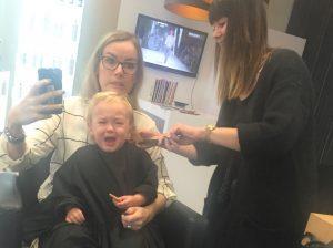 Eerste keer naar de kapper